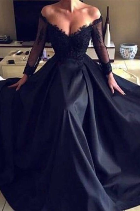 Gorgeous Long Sleeve Lace Evening Dress | 2020 Long Formal Wears BC0136