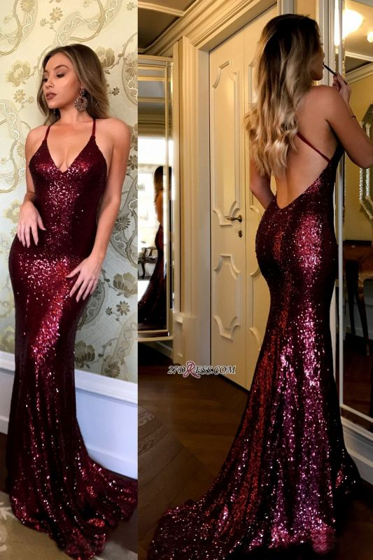 Sexy sequins prom dress, 2020 mermaid evening gowns BA7290