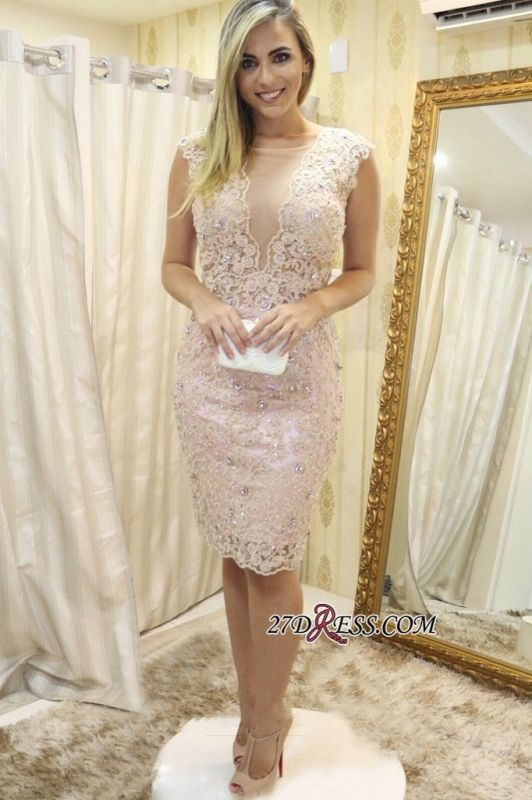 Lace tight short prom dress, 2020 homecoming dress