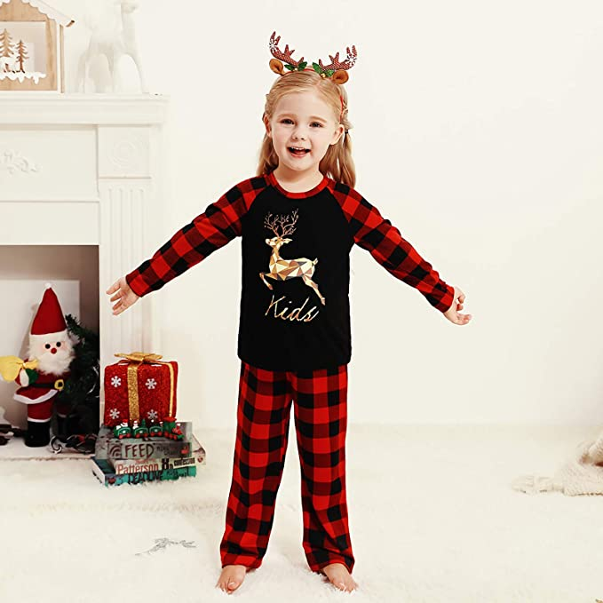 Family Christmas Pajamas Set | Cartoon Print Me Outfits Family Clothes Xmas Gifts