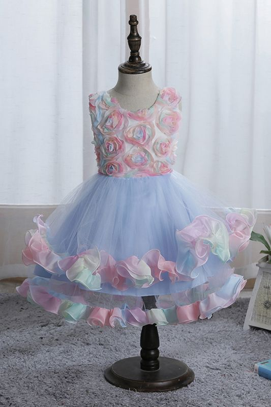 Sleeveless Floral Cute Girl Dresses for Party Wedding