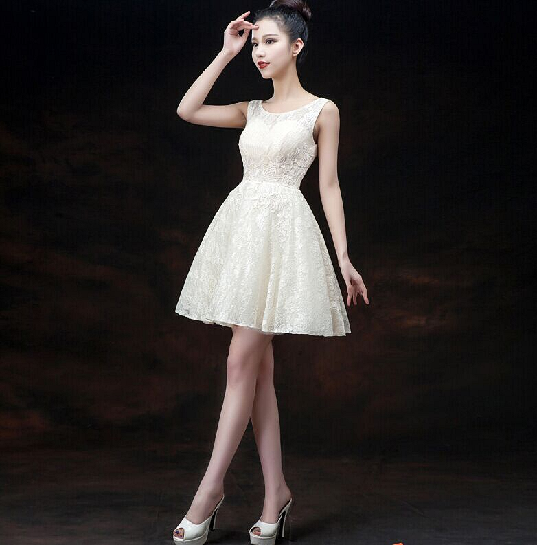 Modern Illusion Sleeveless Short Homecoming Dress Lace-up With Appliques