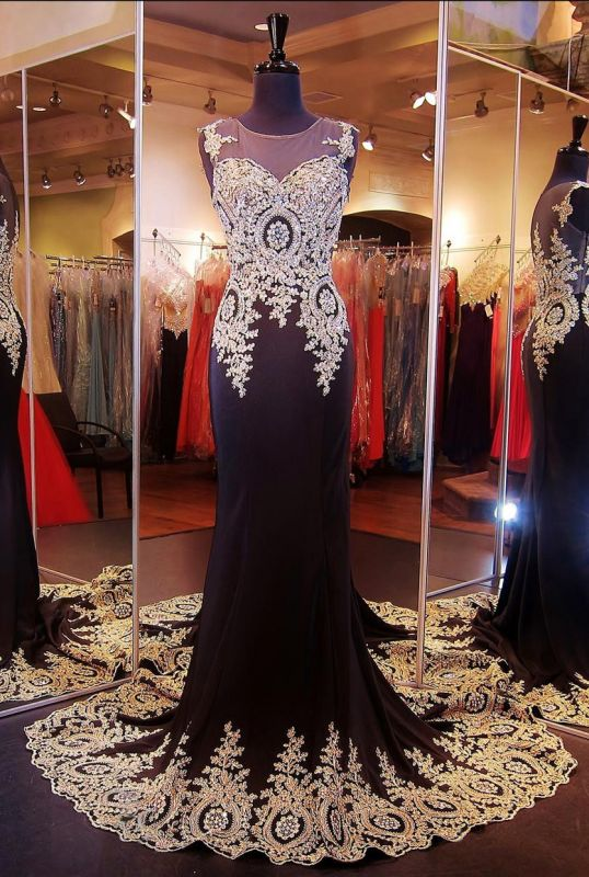 Glamorous Illusion Cap Sleeve Prom Dress With Beadings Appliques