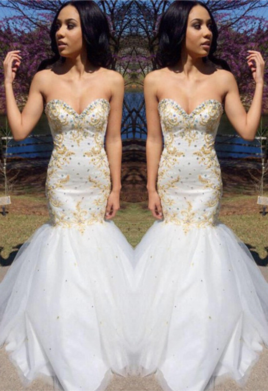 Sweetheart Beadings Prom Dress | Mermaid Long Evening Gowns