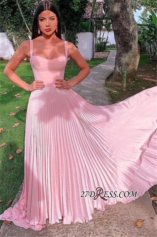 A-line Sweetheart Charming Floor-Length Pink Prom Dresses