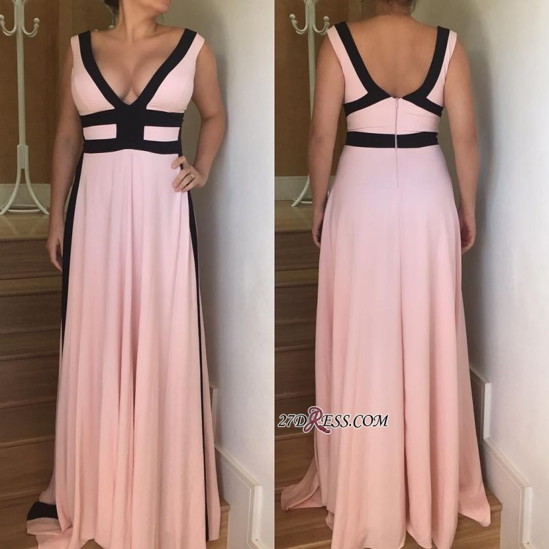 V-neck long prom dress, 2020 evening party gowns