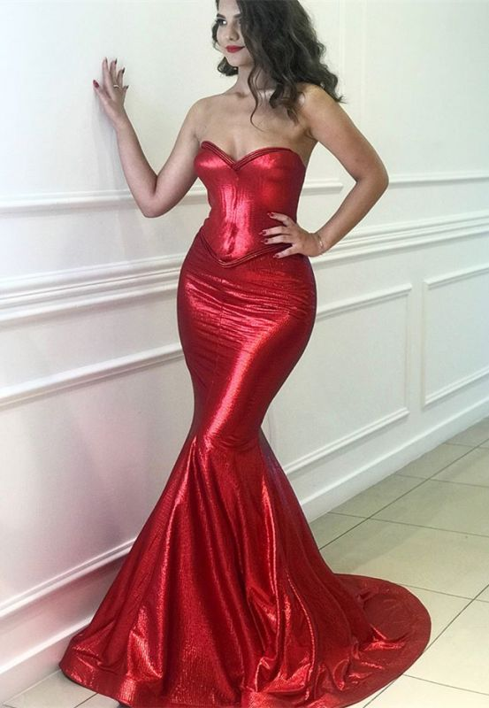 Sexy Red Sweetheart Mermaid 2020 Prom Dresses | Long Evening Party Gowns On Sale BC0576