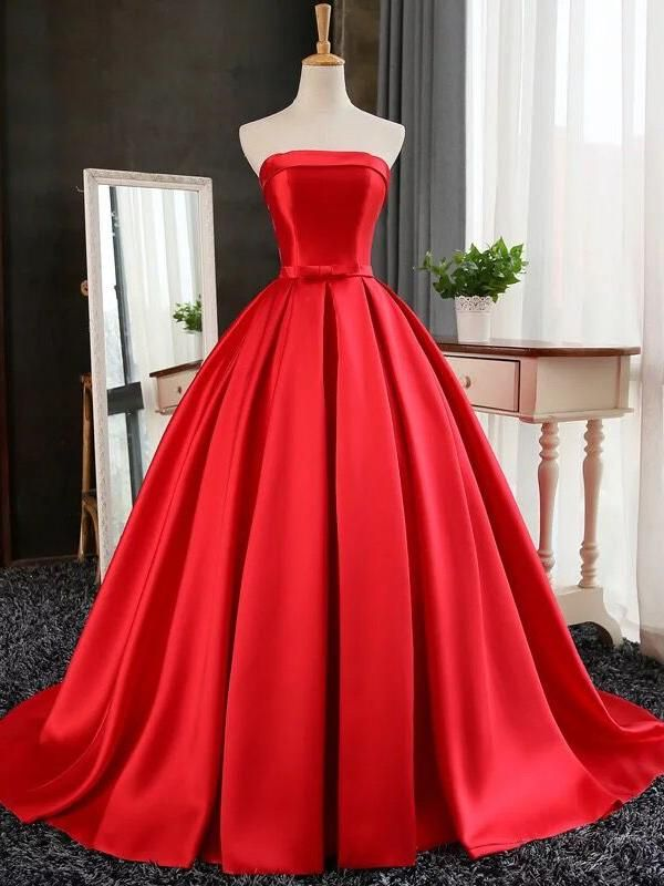 Sexy Strapless 2020 Prom Dress Long Womens Evening Party Dress