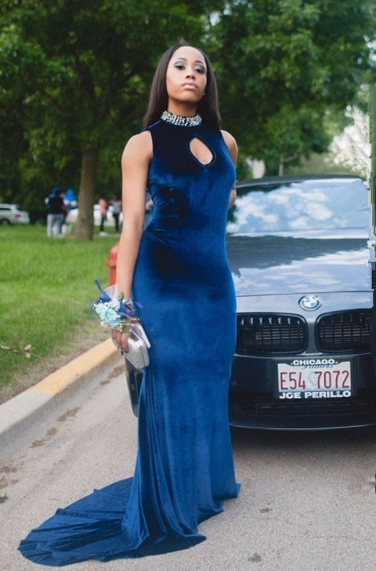 Gorgeous High-Neck Mermaid 2020 Prom Dress With Crystal