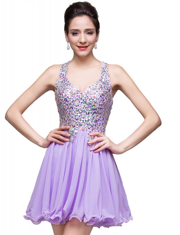 Gorgeous Halter Sleeveless Homecoming Dress 2020 Short Tulle With Crystals