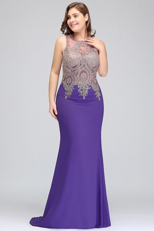 Elegant Sleeveless Mermaid Evening Dress | 2020 Prom Gown With Lace Appliques