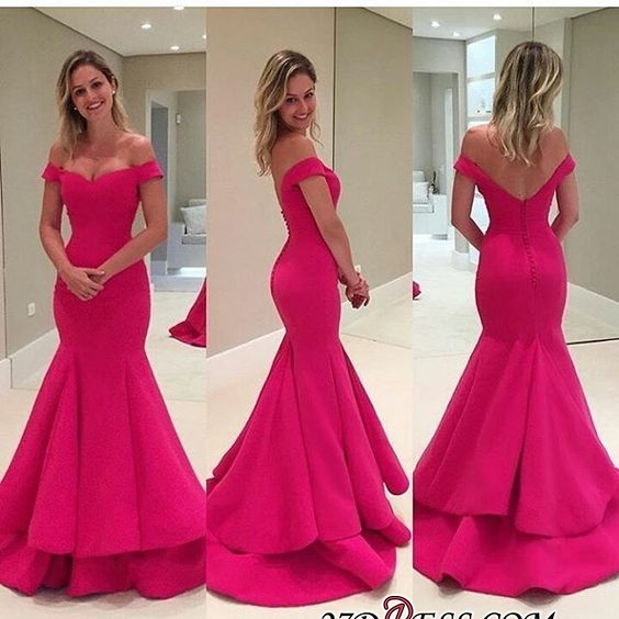 Sexy Off-the-Shoulder Prom Dress | 2020 Long Mermaid Evening Gowns