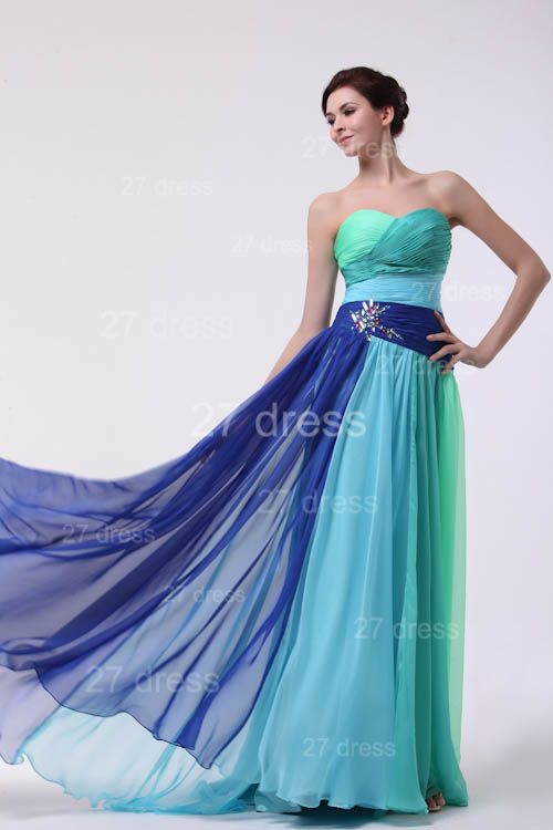 Colourful Evening Gowns Sweetheart Sleeveless A Line Sequins Crystal Floor Length Prom Gowns