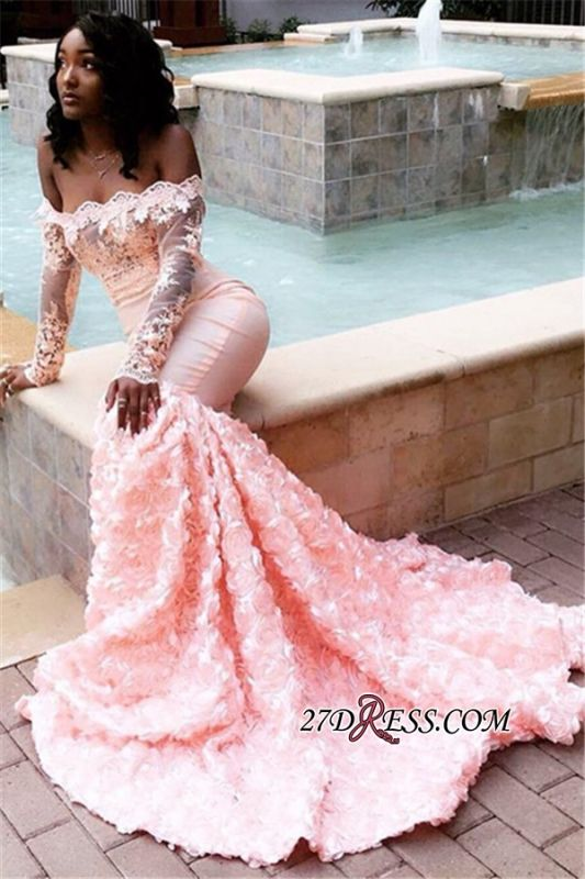 Mermaid Off-the-Shoulder Appliques Gorgeous Prom Gowns BK0 BC1251