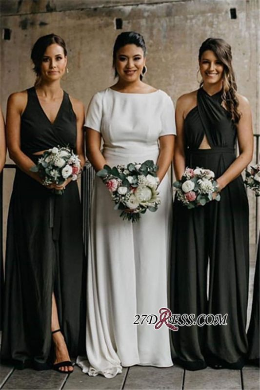 Sheath V-neck Halter Delicate Spaghetti-Straps Bridesmaid Dresses