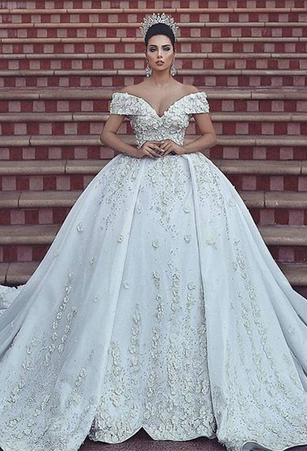 Ball gown wedding dress, lace bridal gowns on sale BA8523