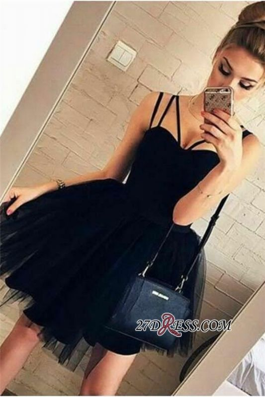 Ball-Gown Glorious Spaghetti-Straps Sweetheart Sexy Homecoming Dresses