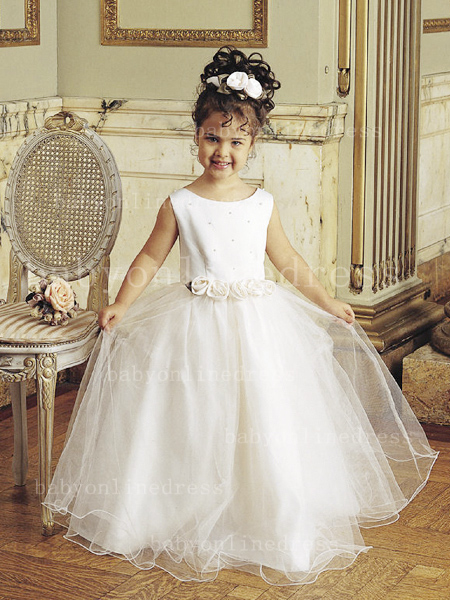 Designer Flowers Little Girls Pageant Gowns Tulle Princess for Sale