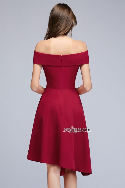 Off-the-Shoulder A-Line Hi-Lo Sweetheart Homecoming Dresses