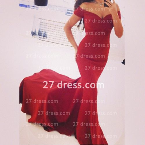 Sexy Off the Shoulder Red Prom dresses 2020