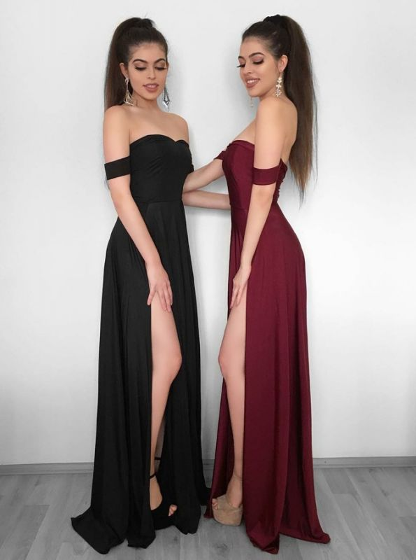 Elegant Off-the-Shoulder 2020 Evening Dress | Prom Party Gowns With Slit BC1257