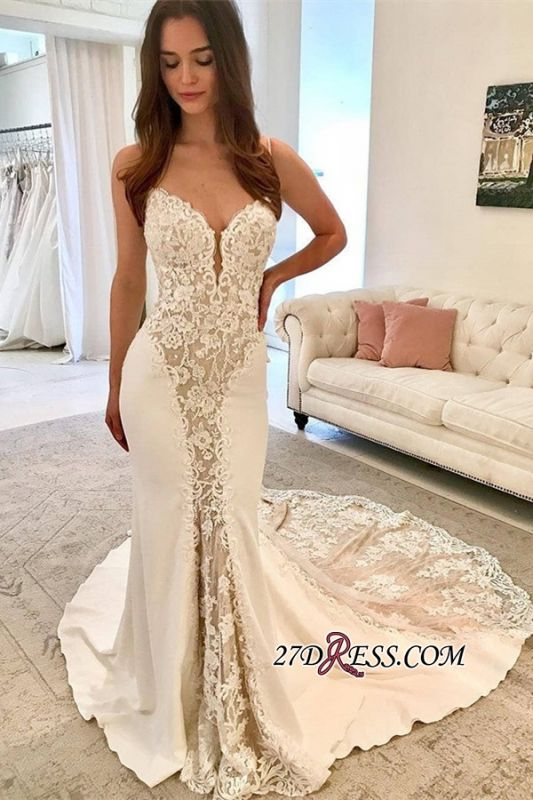 Gorgeous Lace Mermaid Wedding Dresses | 2020 Fashion Sweetheart Bridal Gowns BC0894