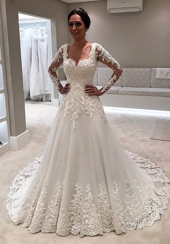 Long Sleeve Wedding Dress | 2020 Lace Bridal Gowns On Sale