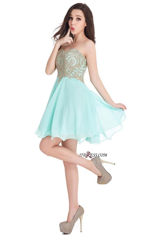 Cheap Short 2020 Mini Sweetheart Appliques Homecoming Dresses