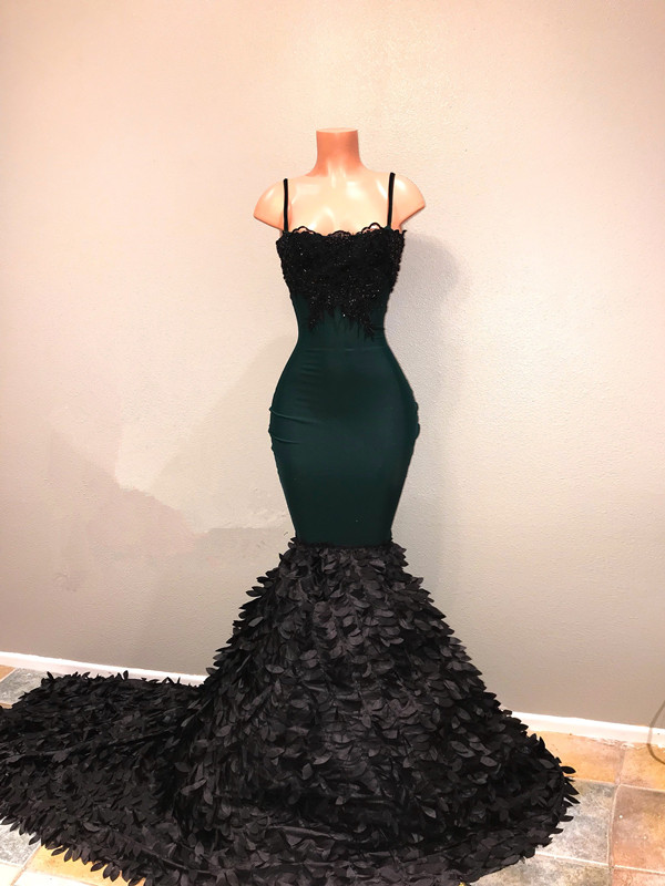 Spaghetti-straps 2020 prom dress, mermaid evening party gowns on sale BA8561