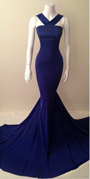 Sexy Elegant Womens Mermaid Prom Dresses Online Simple Design Evening Party Gowns