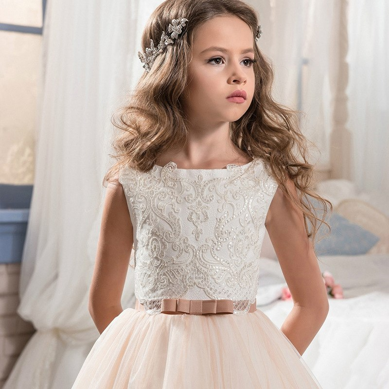Lovely Sleeveless Lace Flower Girl Dresses | 2020 Girls Pageant Dress On Sale