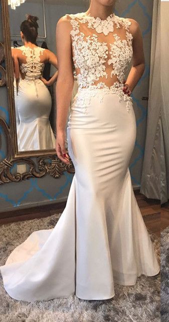 Glamorous Sleeveless Mermaid Appliques 2020 Evening Dress On Sale