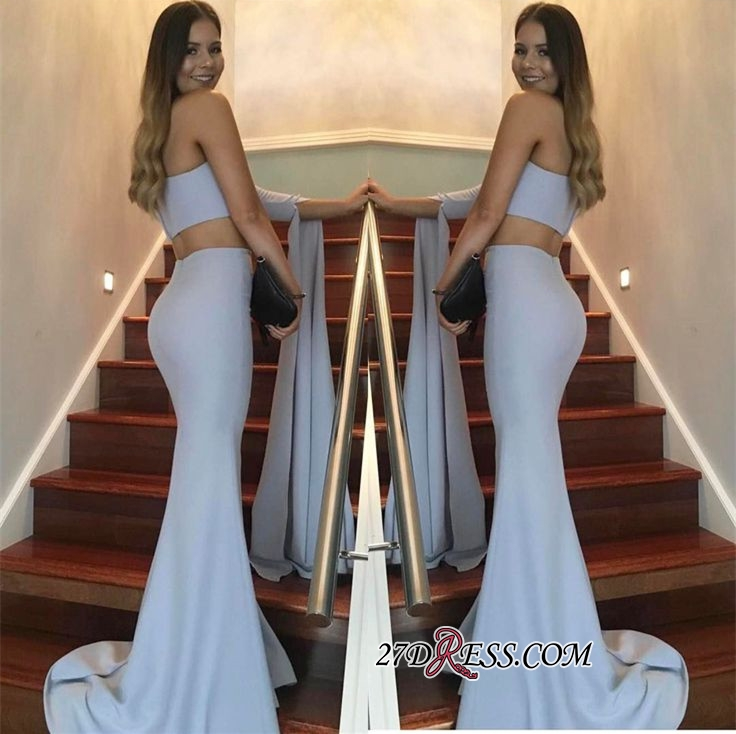 Floor-Length Mermaid Stunning Two-Pieces One-Shoulder Prom Dress