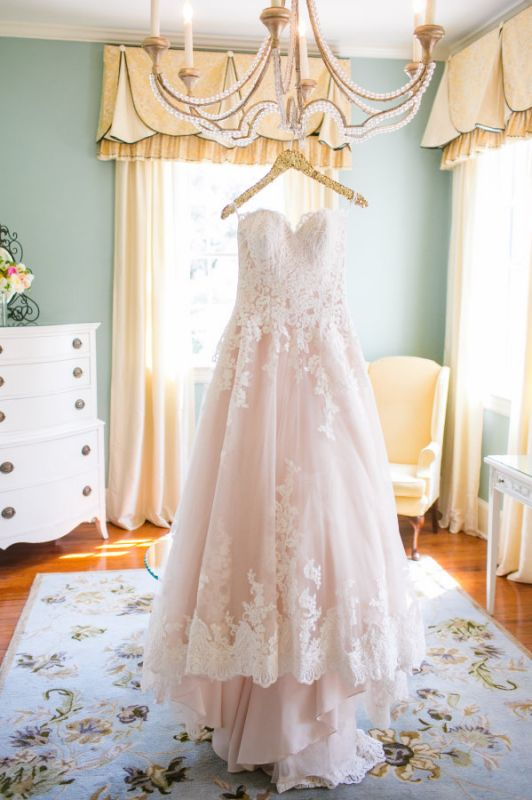 Newest Lace Tulle Princess 2020 Wedding Dress Sweetheart Sweep Train JT017