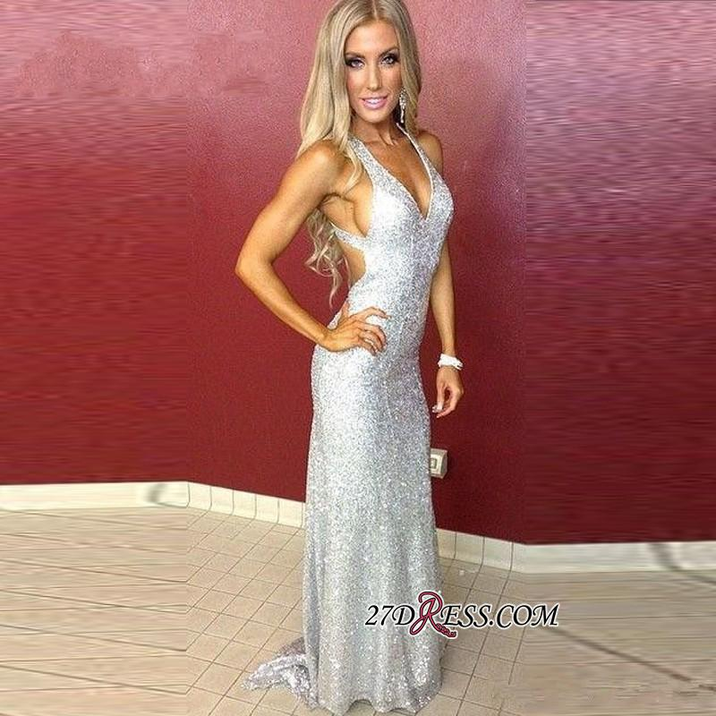 Mermaid Long Sequined Sleeveless Newest Straps Prom Dress