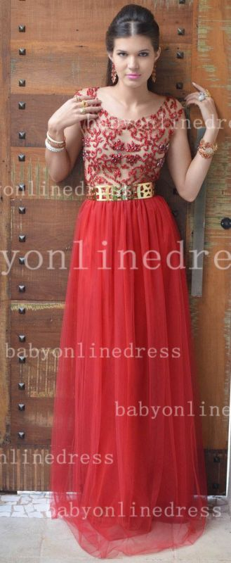 Evening Sexy Red Prom Dresses New Fashion 2020 Dresses Cap Sleeves Vestidos Female Formal Tulle Bead Dresses