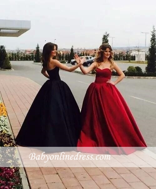 Glamorous Ball Gown Simple Prom Dresses Sweetheart Long On Sale BA9016