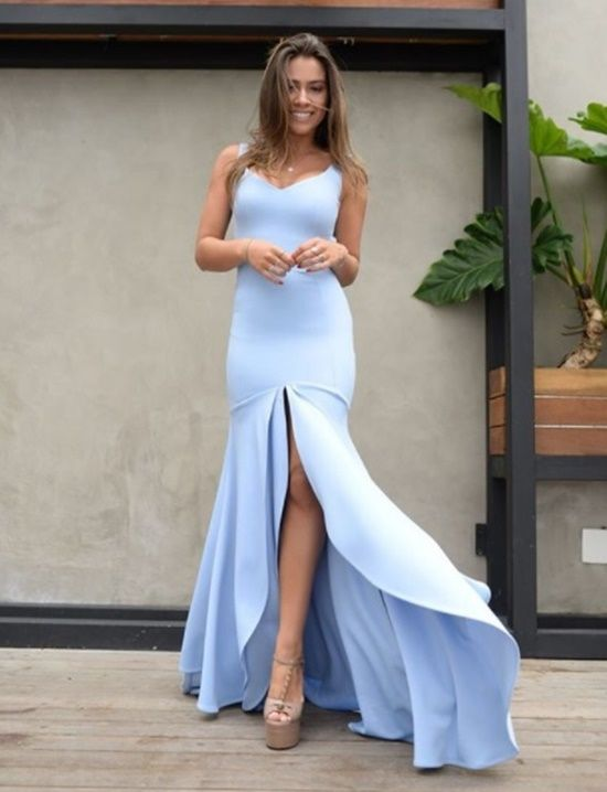 Elegant Sweetheart Mermaid 2020 Evening Dress | Prom Party Dress With Slit On Sale