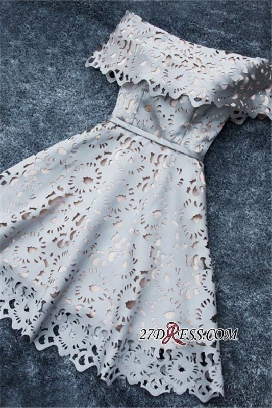 Lace Off-the-Shoulder Simple Short A-Line Homecoming Dress BA6832
