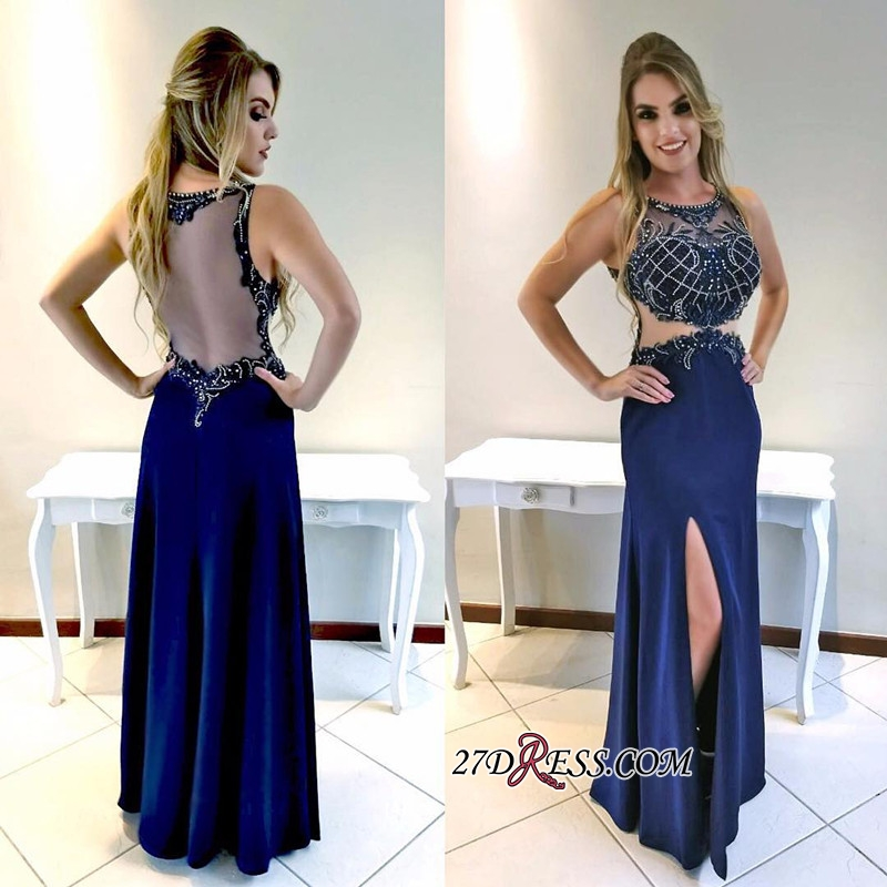 Sexy prom dresses, evening party dress with slit
