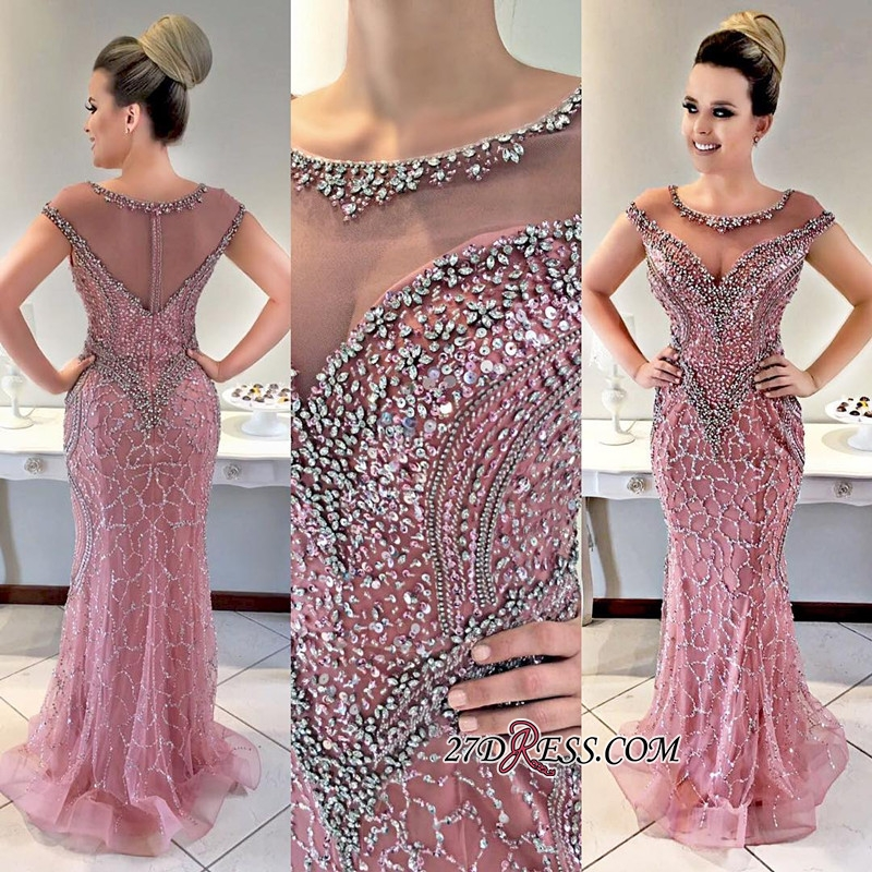 Crystal prom dresses, 2020 long evening gowns BA8036