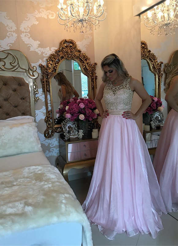 Gorgeous Sleeve Long 2020 Prom Dress With Beads BA3465