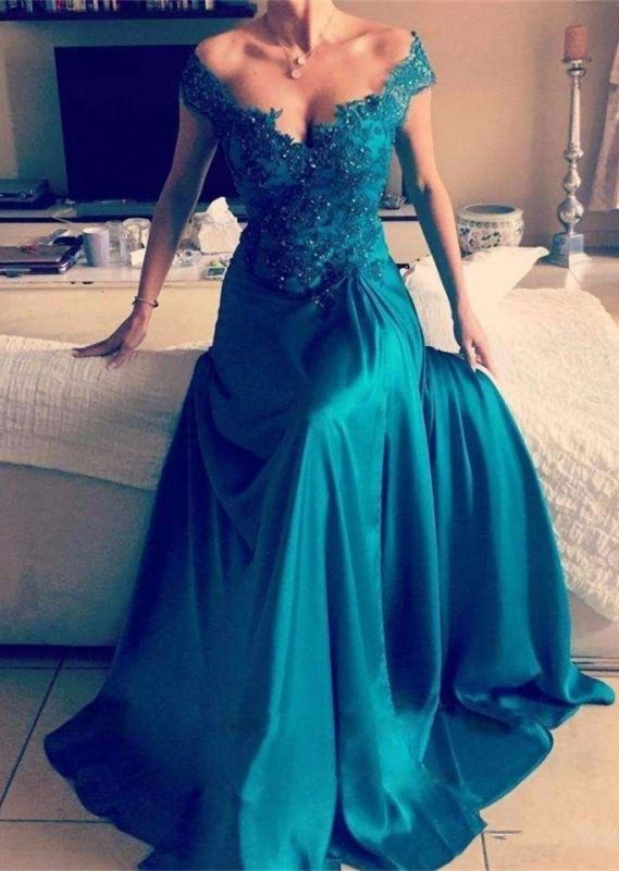 Glamorous Off-the-Shoulder Evening Dress | Lace Prom Dress On Sale