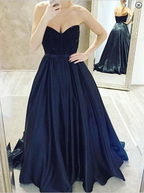 Elegant Sweetheart Beadings Prom Dresses 2020 A-Line Party Gowns