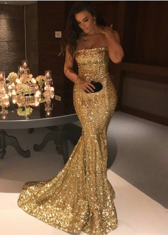 Gorgeous Strapless Mermaid 2020 Evening Dress Long On Sale
