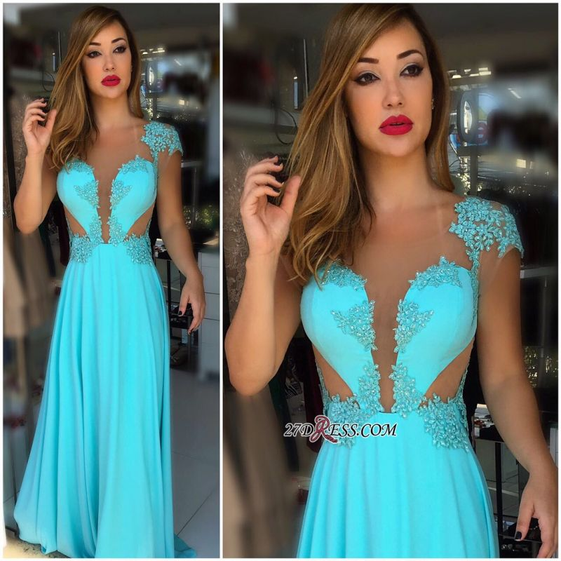 Cap Sleeves lace prom dresses, 2020 formal dresses