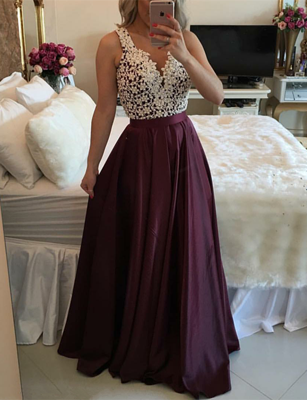 Gorgeous Sleeveless 2020 Lace Evening Dress Floor Length BT BA3697
