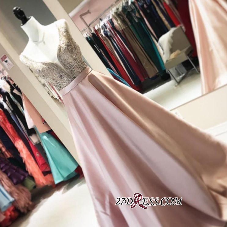 Brilliant V-neck 2020 Prom Dresses WIth Crystals Online