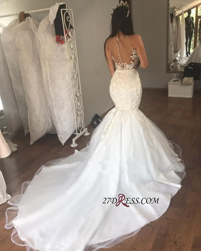 Gorgeous Sleeveless Wedding Dress | 2020 Mermaid Long Bridal Gowns On Sale