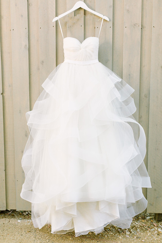 Elegant Sweetheart White Ruffles 2020 Wedding Dress With Tulle Online